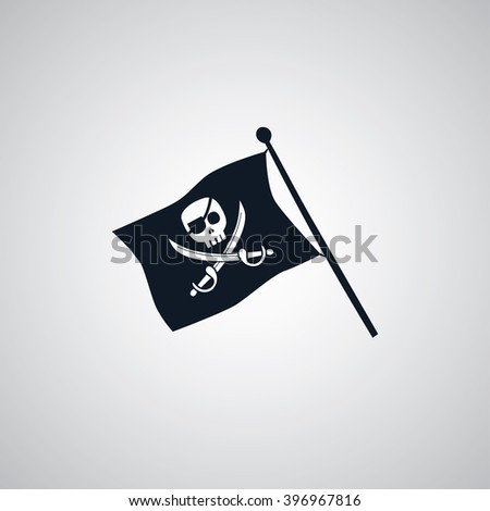 pirate flag flat icon theme