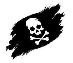 Pirate flag grunge