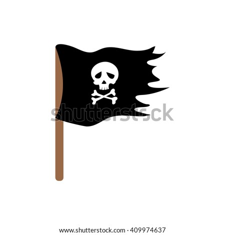 pirate flag illustration for