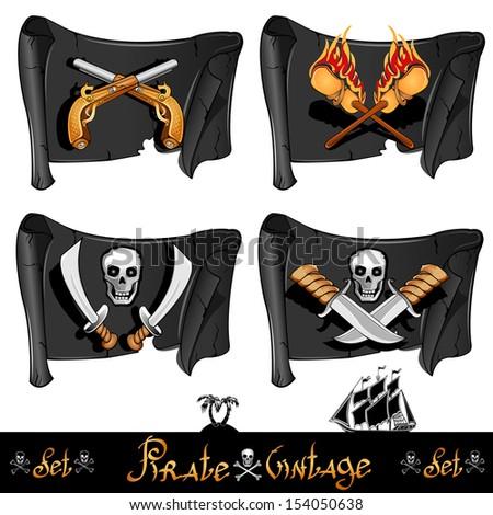 Pirate skull and guns - photo#25