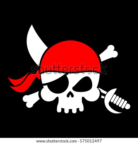 pirate flag skull black banner