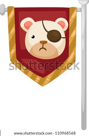 pirate  flag vector illustration