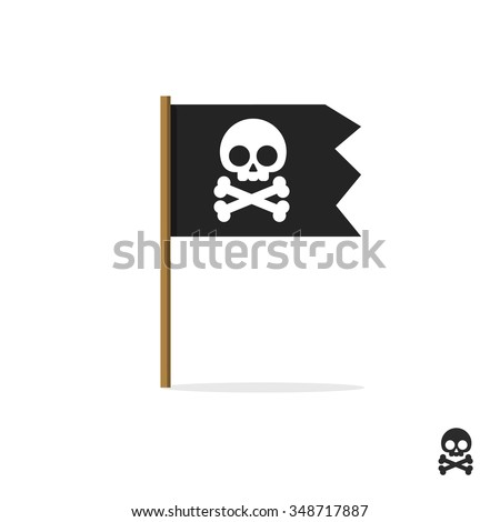 pirate flag vector symbol flat