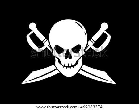 Royalty Free Monochrome Image Of Human Skull And 469083377 Stock