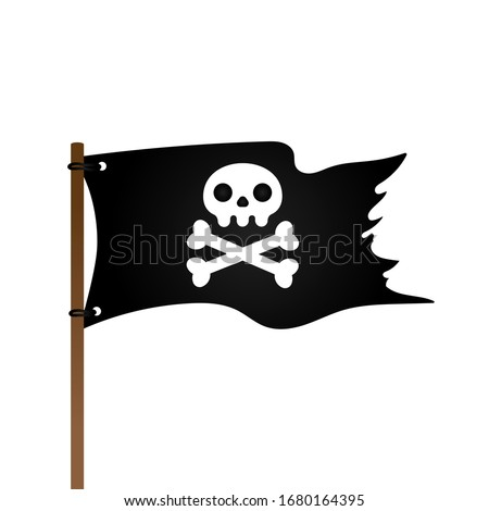 pirate flag with jolly rogeras