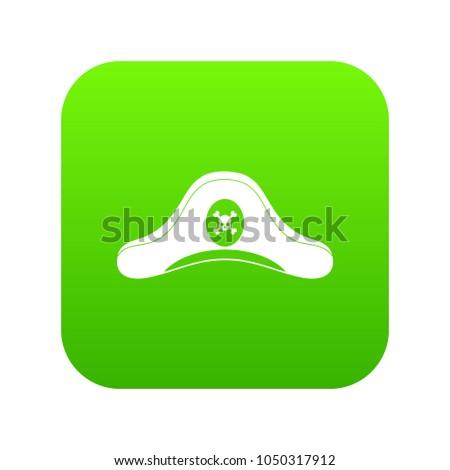 pirate hat icon digital green