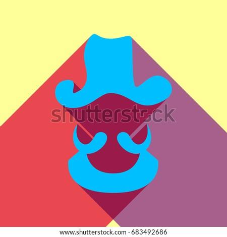 pirate head icon vector deep