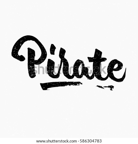 pirate ink hand lettering