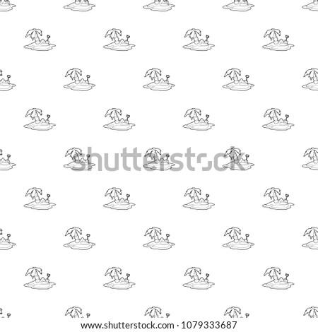 pirate island pattern vector