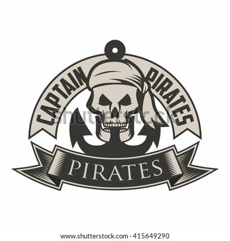 pirate logo template