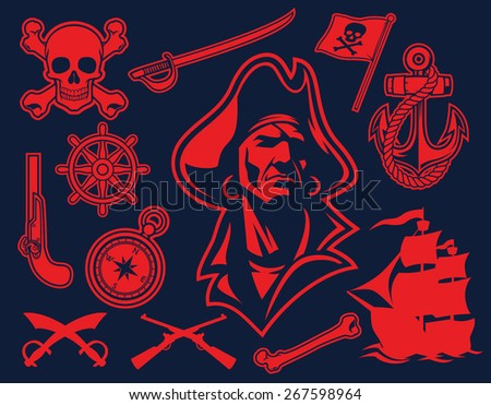 pirate mascot set