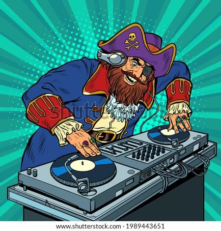 pirate music concept dj on
