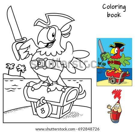 pirate parrot with a cutlass