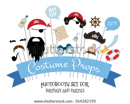 pirate photo booth props and