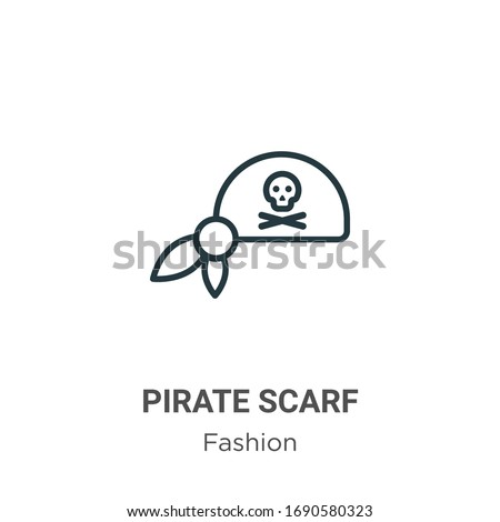 pirate scarf outline vector