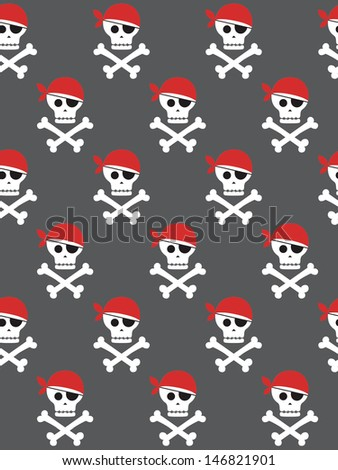 pirate seamless pattern design