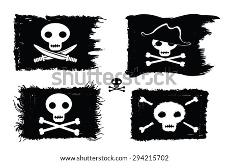pirate   set of pirate flags