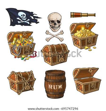 pirate set   treasure chests