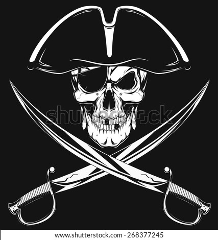 Stock Photo Pirate skull