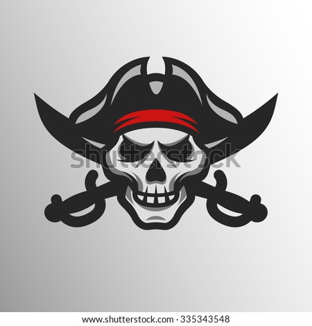 pirate skull and crossed sabers