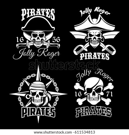 pirate skull and jolly roger