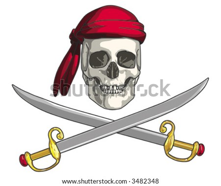 Pirate Skull - VECTOR