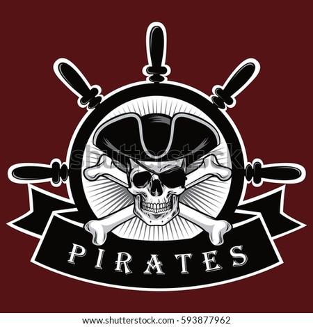 pirate skull with cross bones...