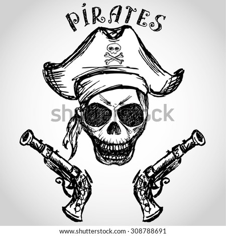 Pirate Hat Drawing Royalty-free Ha...