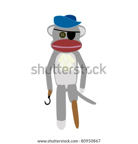 pirate sock monkey a cute