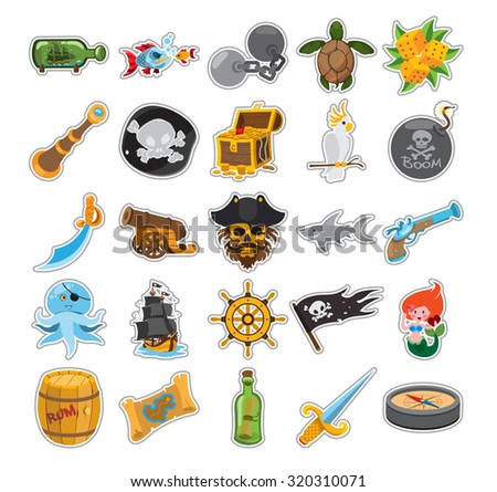 pirate stroke icons  pirate