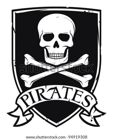 pirate symbol  emblem  coat of