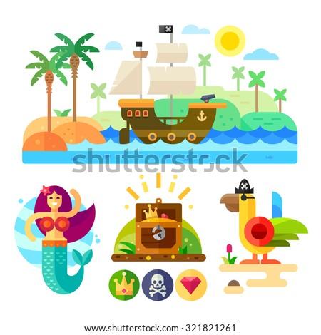 pirate theme vector