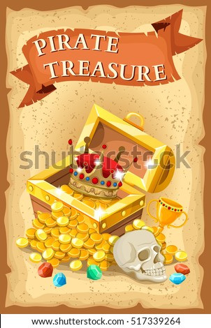 pirate treasure poster with