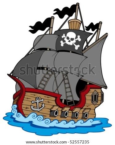 pirate vessel on white