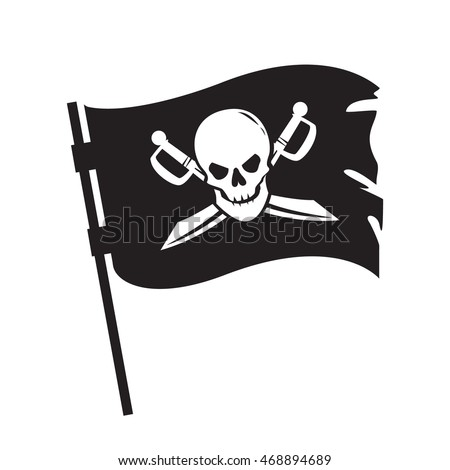 pirate waving flag with image