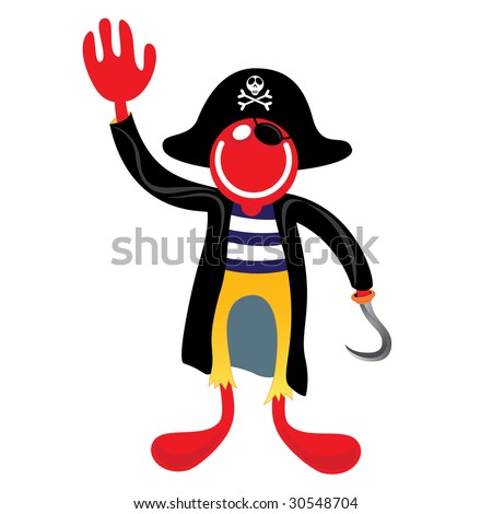 pirate with hook vector