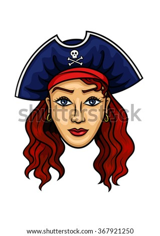 pirate woman cartoon character