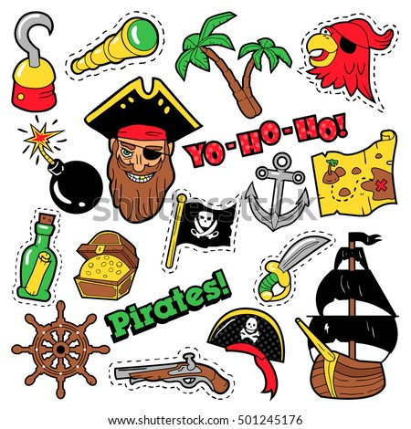 pirates badges  patches
