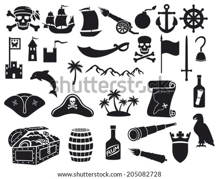 pirate ship looking for treasure in the cove free vector download
