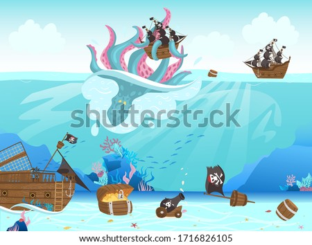 pirates ship shipwreck  giant