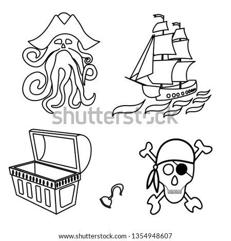 pirates themed drawings by hand
