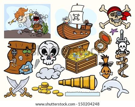 pirates vector        elements