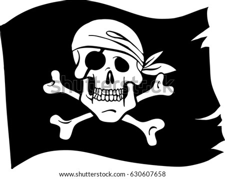 piratic flag isolated vector