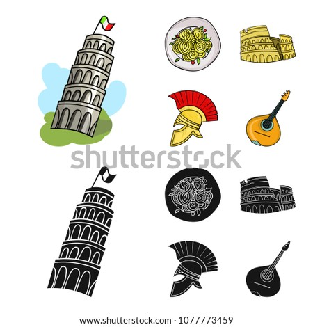pisa tower  pasta  coliseum