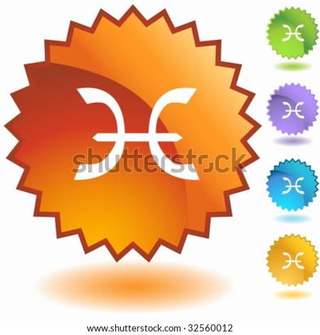 pisces zodiac badge