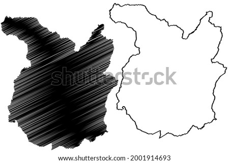 Pistoia province (Italy, Italian Republic, Tuscany or Toscana region) map vector illustration, scribble sketch Province of Pistoia map ストックフォト ©