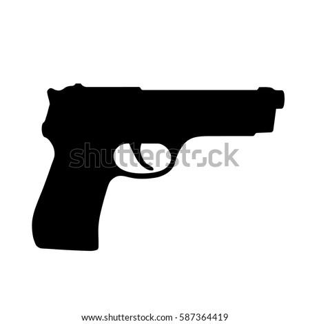 pistol gun  handgun  black