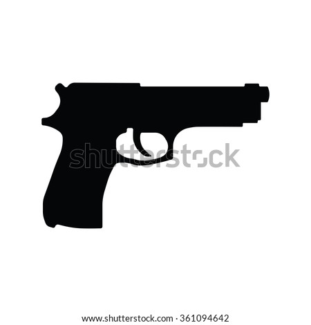pistol gun icon vector
