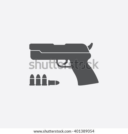 pistol icon pistol icon vector