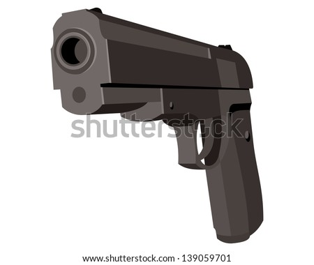 pistol isometric view